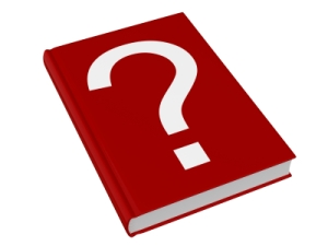 book with a question mark