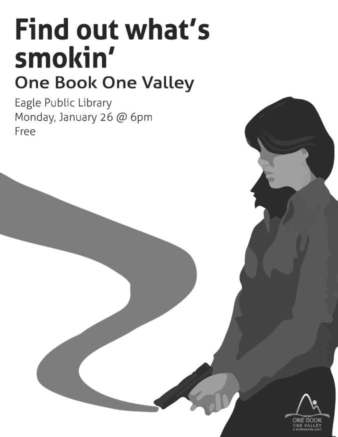 Image of woman holding smoking gun.