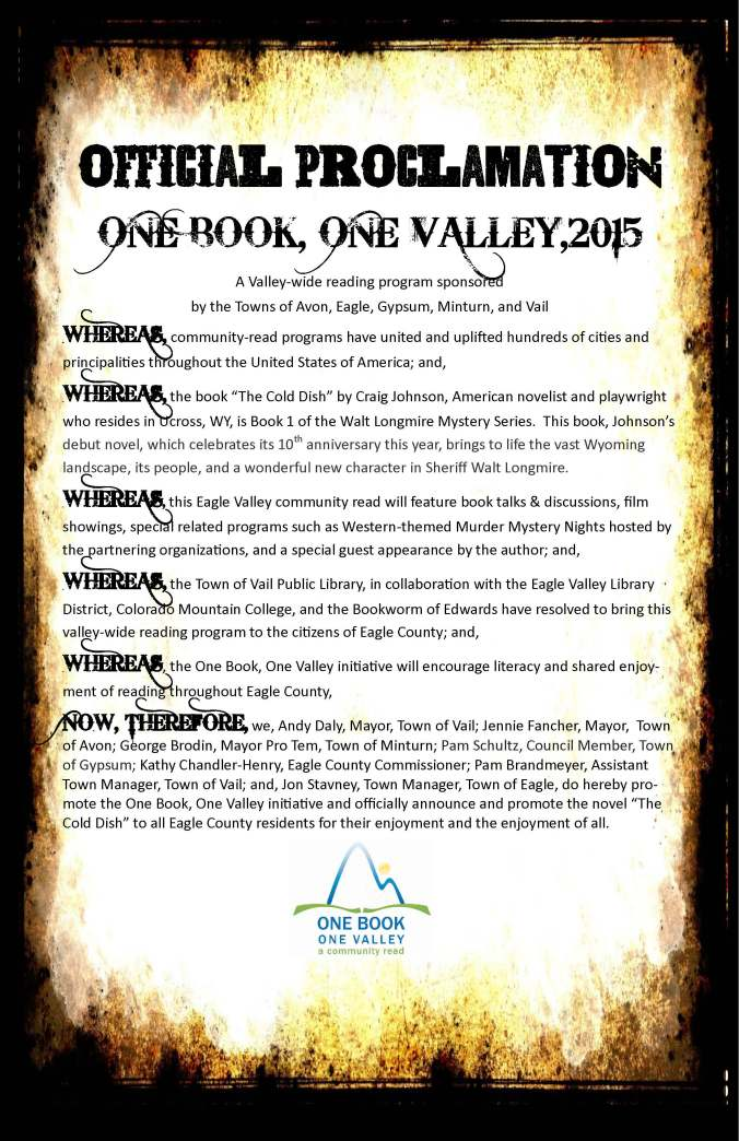 Proclamation 2015 - Book Announcement